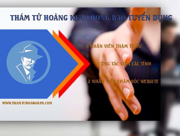 Thám Tử Hoàng Kim thông báo tuyển dụng