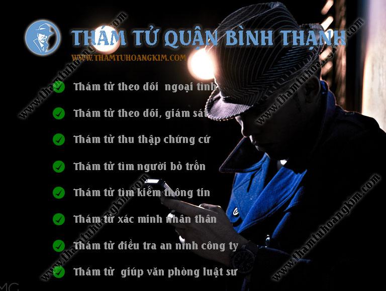 Thám tử quận Bình Thạnh TPHCM