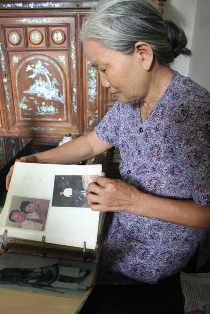 Bà Quý, con dâu ông Lê Văn Lương