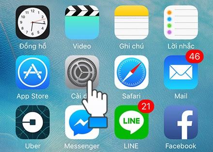 định vị điện thoại iphone