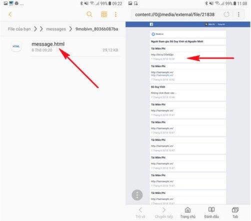 Cách khôi phục tin nhắn facebooik bằng điện thoại di động